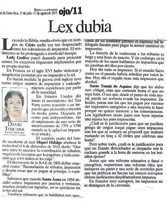 LEX DUBIA